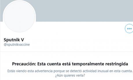Rusia denuncia que Twitter bloqueó la cuenta de su vacuna Sputnik V