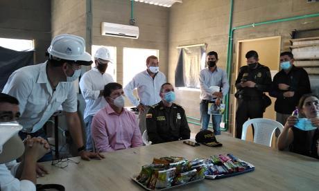 Minjusticia supervisa las obras de cárcel en San Ángel