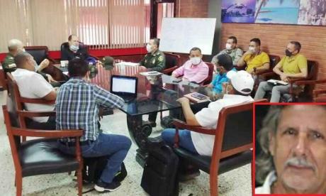La reunión cumplida en Sincelejo con Gaula, autoridades locales y ganaderos.