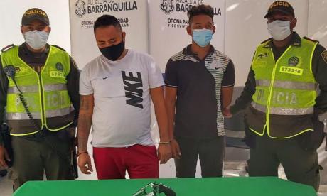 Los capturaron tras atracar en un taxi en el norte de Barranquilla