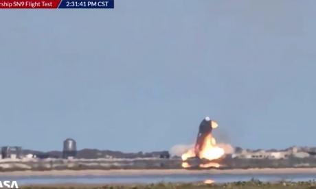 Un prototipo de cohete SpaceX se estrelló al aterrizar