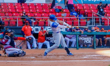 Jordan Díaz intentó potenciar a la ofensiva y conectó un doble en el juego ante Venezuela.