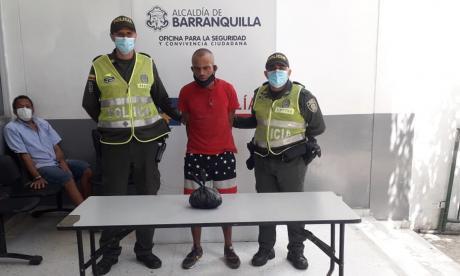Lo capturaron en Barranquillita con 175 cigarrillos de marihuana