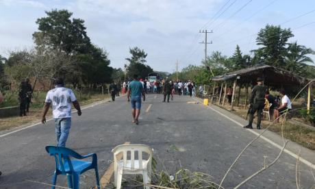 Por muerte de pescador bloquean la vía San Marcos-Majagual