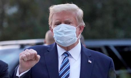 Trump estuvo cerca de tener que usar un respirador cuando enfermó de covid-19