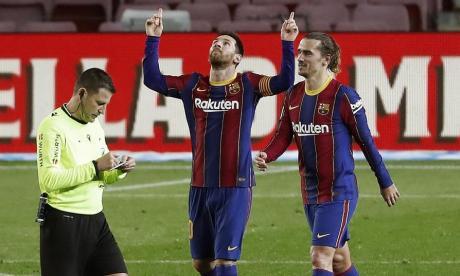 El Barcelona venció por 5-1 a el Alavés.