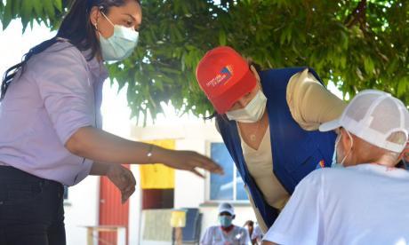 Comienza vacunación contra covid-19 en mayores de 80 años en Cesar