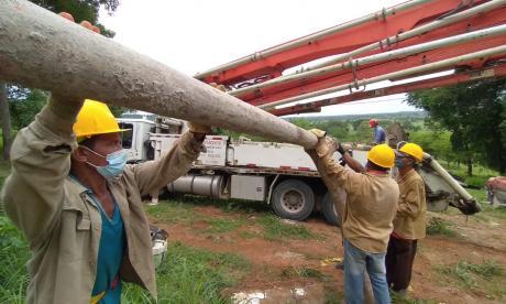 Acueducto rural en Montería presenta un avance del 85 por ciento