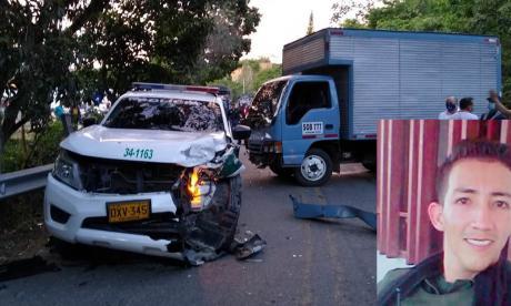 Muere patrullero en medio de hostigamiento a estación de Policía en Cesar