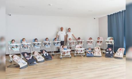 Pareja tiene 20 hijos en tan solo un año gracias a vientres de alquiler