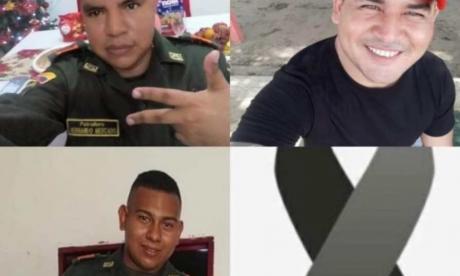 Asesinan a tres policías en Pailitas, Cesar