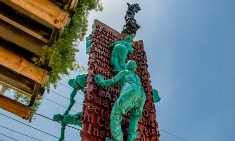 El barrio La Paz estrena nuevo monumento