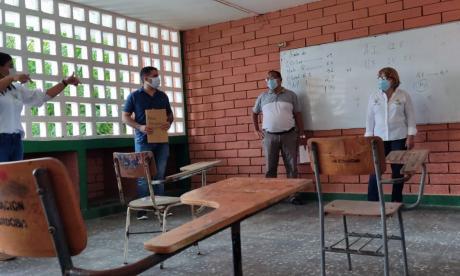 Inició verificación de escuelas para el retorno a clases en Cereté