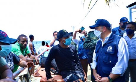 Autoridades coordinan el paso seguro por Necoclí