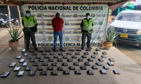 Incautan 124.72 kilogramos de droga y capturan a tres personas en La Guajira