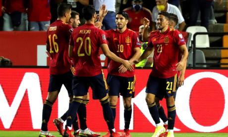 España goleó a Georgia en la Eliminatoria Europea