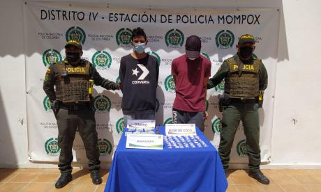 Capturan a dos presuntos expendedores de droga en Mompox