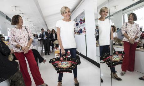 En imágenes   Primeras damas de G7 se van de shopping