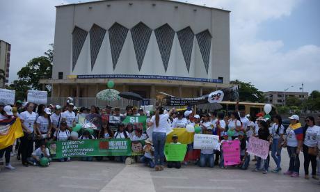 En imágenes   En Barranquilla protestan en contra del 'plan pistola'