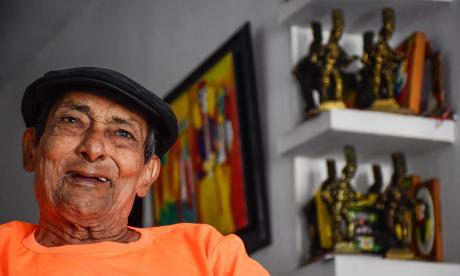 Esta era César 'Paragüita' Morales, fundador de las Marimondas de Barrio Abajo