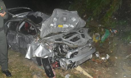 En imágenes   Así quedó el vehículo arrastrado por el arroyo El Salao