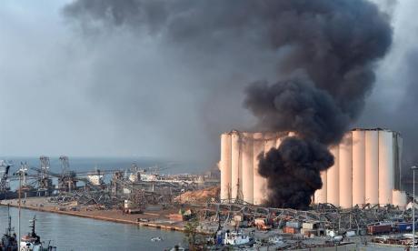 Las impresionantes imágenes que deja la explosión en Beirut