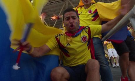 Así celebraron los hinchas Colombianos en Rusia la clasificación a octavos