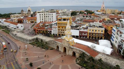 La torre del reloj es uno de los sitios más emblemáticos de la capital de Bolívar.