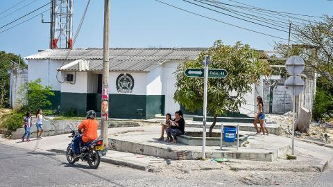 Así luce hoy el CAI del barrio Soledad 2000.