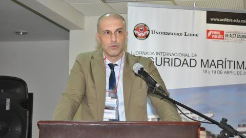Víctor Jiménez Fernández, Consejero de Transporte de la Embajada de España ante el Reino Unido de Gran Bretaña e Irlanda del Norte y Miembro de la Organización Marítima Internacional.