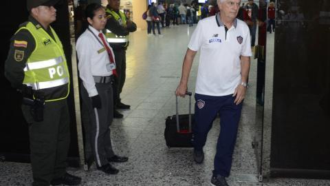 Julio Comesaña, a su llegada ayer a Barranquilla.