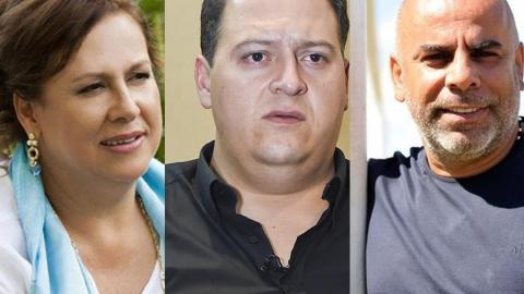 María Santos Caballero, Sebastián Marroquín y Mauricio Serna.