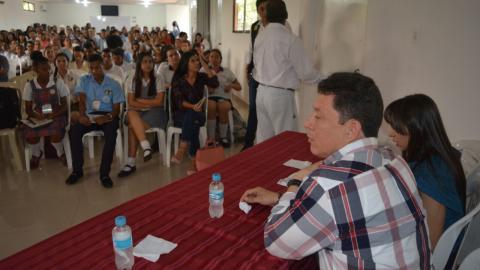 El Personero Jaime Sanjuán durante el evento.