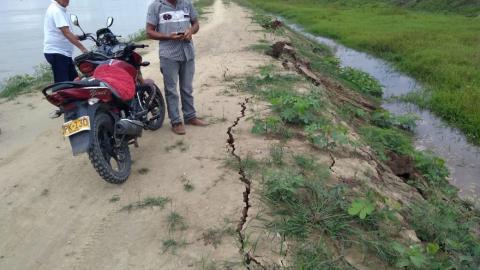 El 'Punto G', donde el río Cauca amenaza a Majagual.