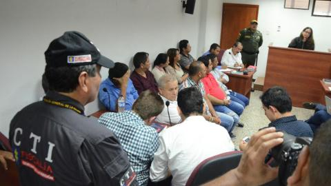 Aspecto de la audiencia de legalización de captura realizada en la mañana de ayer en Valledupar.