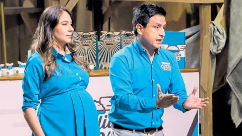 Hayeth Askar y Alejandro Espejo, creadores y propietarios de Bendito Arroz, durante su negociación con los inversionistas.