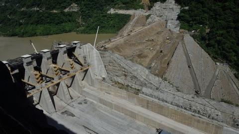 Construcción del proyecto de Hidroituango en Antioquia.