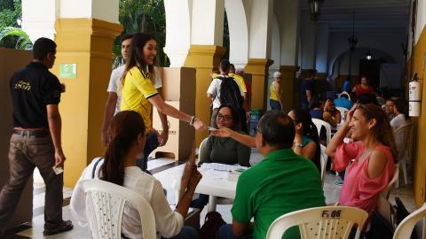 Jornada electoral transcurrió sin apuros en algunos de los puestos asignados en Cartagena.