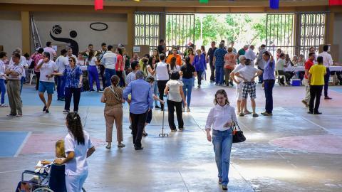 Así transcurrió la jornada en el colegio Biffi la Salle, uno de los puntos del norte de la ciudad.