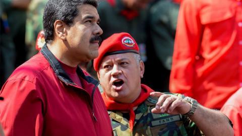 Nicolás Maduro junto a Diosdado Cabello.
