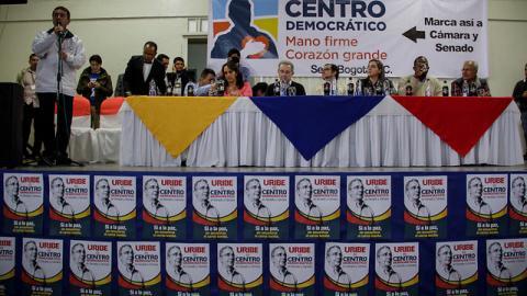Miembros del partido Centro Democrático.