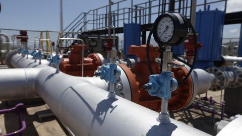 Equipos que hacen parte de una subestación de un gasoducto en la Costa Caribe.