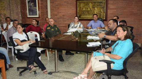 La Mesa de Garantías de Sucre en plena reunión.