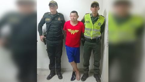 William Benavides Murcia, de 33 años, fue apresado por la policía.