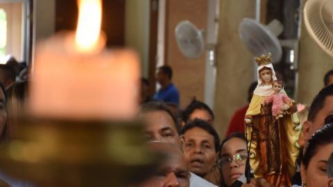 Celebración de la virgen del Carmen