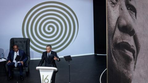 Este año, Obama fue encargado de pronunciar el discurso.
