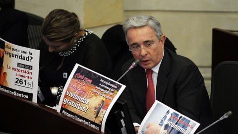 Alvaro Uribe, senador del Centro Democrático.