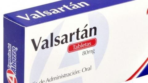 Valsartán, producido por farmacéutica china.