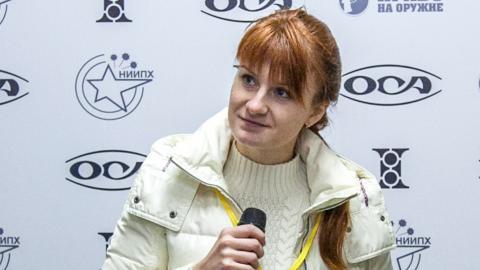 María Butina en Moscú, el 8 de octubre de 2013.
