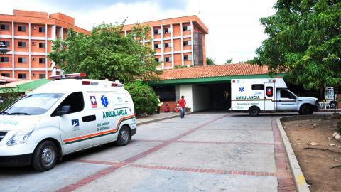 Fachada del Hospital Rosario Pumarejo de López.